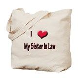 I Love (Heart) My Sister In L Tote Bag