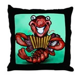Funny Gras Throw Pillow