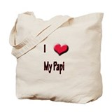 I Love (Heart) My Papi Tote Bag