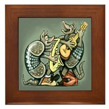 Cute Armadillos Framed Tile