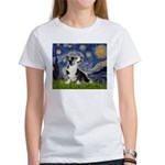 Starry Night / Welsh Corgi Women's T-Shirt