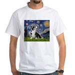 Starry Night / Welsh Corgi White T-Shirt
