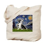 Starry Night / Welsh Corgi Tote Bag