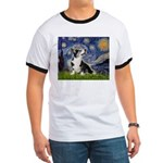 Starry Night / Welsh Corgi Ringer T