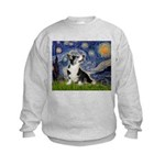 Starry Night / Welsh Corgi Kids Sweatshirt