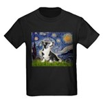 Starry Night / Welsh Corgi Kids Dark T-Shirt
