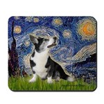 Starry Night / Welsh Corgi Mousepad