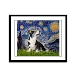 Starry Night / Welsh Corgi Framed Panel Print