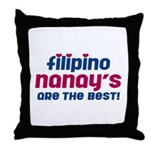 Filipino Nanay Throw Pillow