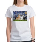 Starry Night / Corgi pair Women's T-Shirt