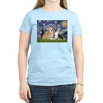 Starry Night / Corgi pair Women's Light T-Shirt