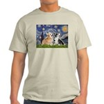 Starry Night / Corgi pair Light T-Shirt