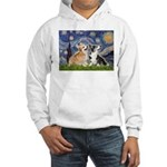 Starry Night / Corgi pair Hooded Sweatshirt