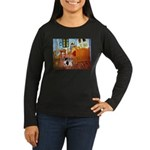 Room / Corgi pair Women's Long Sleeve Dark T-Shirt