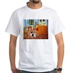 Room / Corgi pair White T-Shirt
