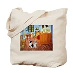 Room / Corgi pair Tote Bag