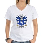 Kydwelly Family Crest Women's V-Neck T-Shirt
