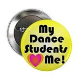 "Dance Teacher 2.25"" Button"