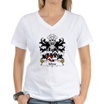Johns Family Crest Women's V-Neck T-Shirt