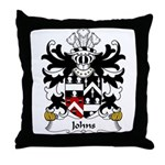 Johns Family Crest Throw Pillow