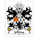 Jeffreys Family Crest Small Poster