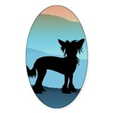 Craftsman Chinese Crested Oval Decal