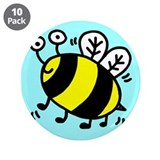 Bumble Bee 3.5&quot; Button (10 pack)