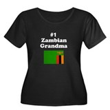 #1 Zambian Grandma Women's Plus Size Scoop Neck Da