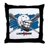 Lacrosse Attitude Throw Pillow