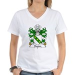 Hooton Family Crest Women's V-Neck T-Shirt