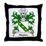 Hooton Family Crest Throw Pillow