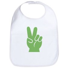 Green Hand of Peace Bib