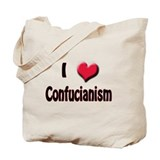 I Love (Heart) Confucianism Tote Bag