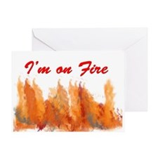 I'm on Fire Valentine's Day Card