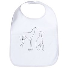 Cute Italian greyhounds Bib