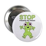 "Stop Polluting! 2.25"" Button"