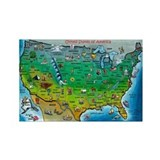 Cute Usa map Rectangle Magnet
