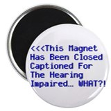 "Closed Captioned - 2.25"" Magnet (10 pack)"
