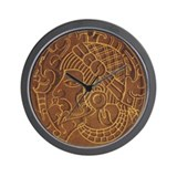 Pre-Columbian Ancient Art Wall Clock