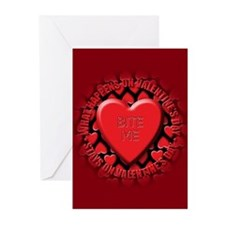 bite me Greeting Cards (Pk of 20)