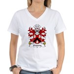 Gronwy Family Crest Women's V-Neck T-Shirt