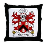 Gronwy Family Crest Throw Pillow
