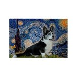 Starry Night / Welsh Corgi(bi Rectangle Magnet