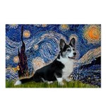 Starry Night / Welsh Corgi(bi Postcards (Package o