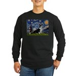 Starry Night / Welsh Corgi(bi Long Sleeve Dark T-S