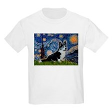 Starry Night / Welsh Corgi(bi T-Shirt