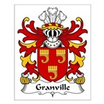 Granville Family Crest Small Poster