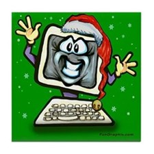 Cute Christmas party Tile Coaster