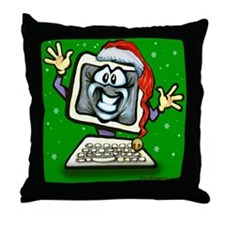 Cute Computer Throw Pillow