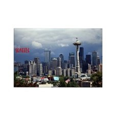 Cute Seattle washington Rectangle Magnet